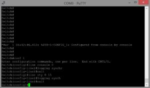 enable logging sync